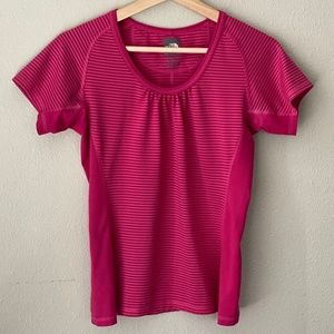 The North Face Vapor Wick Pink Striped Shirt - S